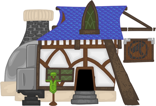Knightmare Realm: City Blacksmith by Lord-Varian
