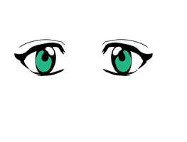 Pretty Green Anime Eyes by PrincessPyrefly