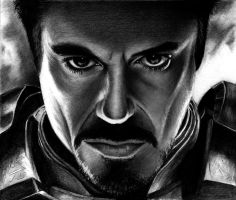 Iron Man - Robert Downey Jr by HarryMichael