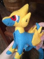 Manectric Plush by Vulpes-Canis