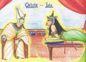 Osiris and Isis by MyWorld1