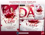 Valentines Flyer Template by ranvx54