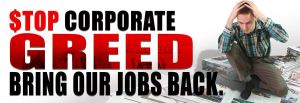 STOP Corporate GREED B by reyjdesigns