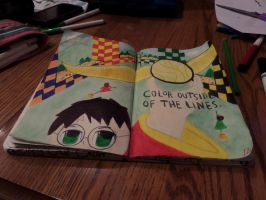 Wreck this Journal: Color Outside Of The Lines by heather24242