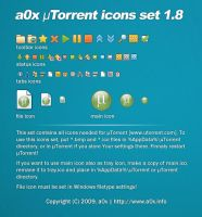 a0x uTorrent icons set 1.8 by a0x