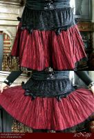 Red gothic skirt with bows by xNatje