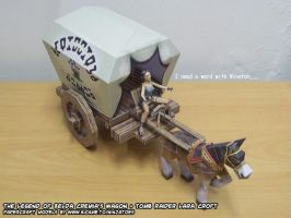 Lara's papercraft wagon by ninjatoespapercraft