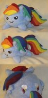 Rainbow dash blob plush by SmellenJR