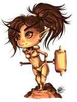 Chibi Blood Elf by tonbo-kun