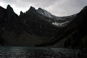 Lake Agnes Mid-day by thenothing777