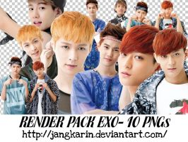 [Render Pack] #8 EXO for SM Pop-up part 1 by jangkarin