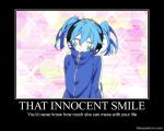 Mekakucity Actors Demotivational- Smiling Ene by XxCelestialWolfxX