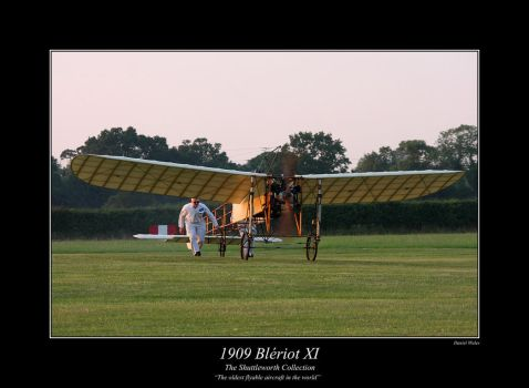 1909 Bleriot XI by Daniel-Wales-Images