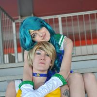 Sailor Uranus and sailor Neptune by TidusSurya
