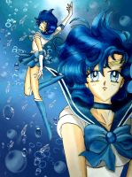 Sailor Mercury: Soldier of water by Dolly-M00N
