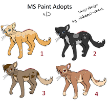MS Paint Cat Adopts - moved by Nahemii-chan