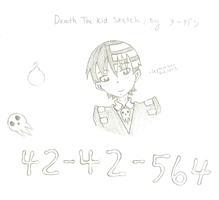 Death the Kid Sketch by Artistic-Resonance