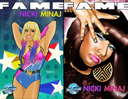 Nicki Minaj - the two comic book covers.... by BLUEWATERPROD