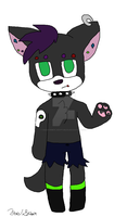 Adopted- Punk Wolf by ShadowMew-Adoptables
