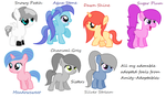 7 adopted foals by HowlingWolf64