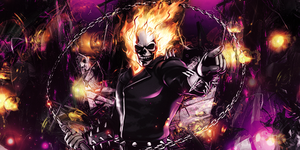 ghost rider signature by Shen-Woo