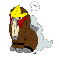 Entei is not amused by FlameCurry