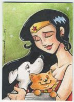 wonder woman-super pets by katiecandraw