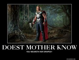The Avengers motivational poster Thor punchline by Meowmeowmeow21