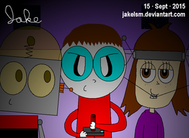 A Sleepover with Robot Jones and Shannon by jakelsm