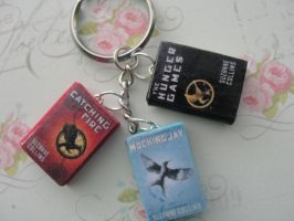 Cute Clay Hunger Games Books by CraftyOlivia