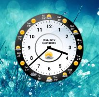 Analog Weather Clock EX for xwidget by jimking