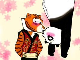Upside down Kiss. (Po X Tigress) by Nilusanimationworld