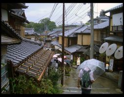 Kyoto shopping street by sadato