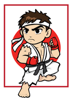 SF Chibified - 2 of 3 Ryu by TheOGCarrieP