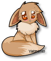 Me As An Eevee by yazmen10