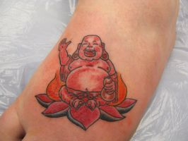buddha tattoo by Drewgovan