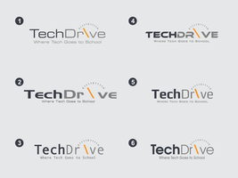 techdrive logo fonts option by ntgladia