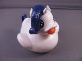 Rarity Duck by spongekitty