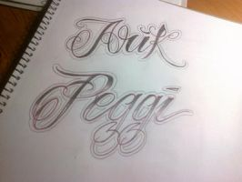 lettering names by smurfpunk
