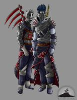 Redesign of Hidan and  Kisame by ChaosShannon
