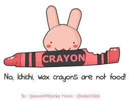 Wax crayons are not food by ChobiChibi