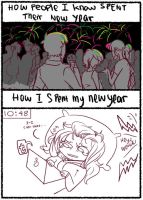 How I spend my New Year by Rexxe