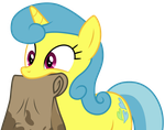 Lemon Hearts holding a paper bag by CloudyGlow