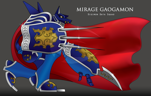 MirageGaogamon Color by Digital-Human