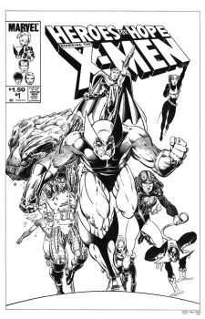 Heroes For Hope X-Men #1 Cover Recreation by dalgoda7