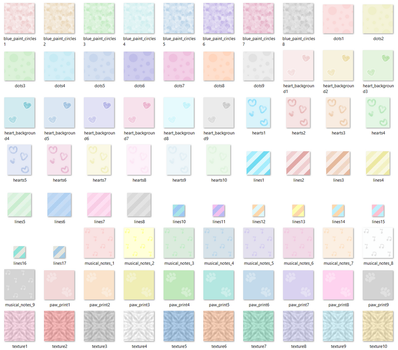 Pastel Backgrounds by MikariStar
