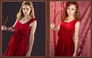 Hermione Granger Cosplay - In the red dress by AnastasiyaKosenko