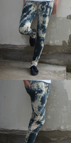 Hand made acid jeans by PinkCatsCookieShop