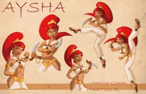 Aysha - Model Sheet by m-gomes