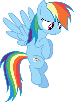 Rainbow Dash concerned by Myardius